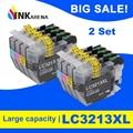 INKARENA 2 комплекта полный чернильный картридж для Brother LC3213 XL DCP-J772DW DCP-J774DW MFC-J890DW MFC-J895DW картридж с чернилами для принтера