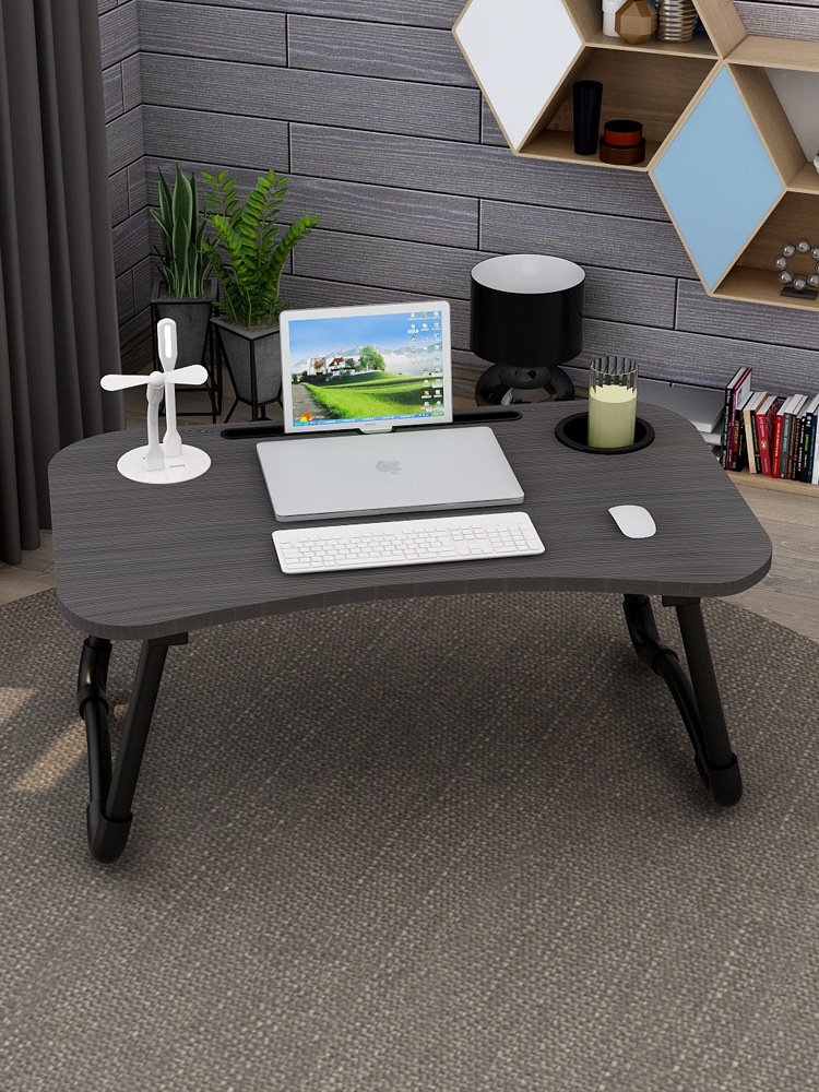 Computer Table-Fold Desk Learning Simple Small Table College Student Do Table Lazy Dormitory Useful Product Bed Desk