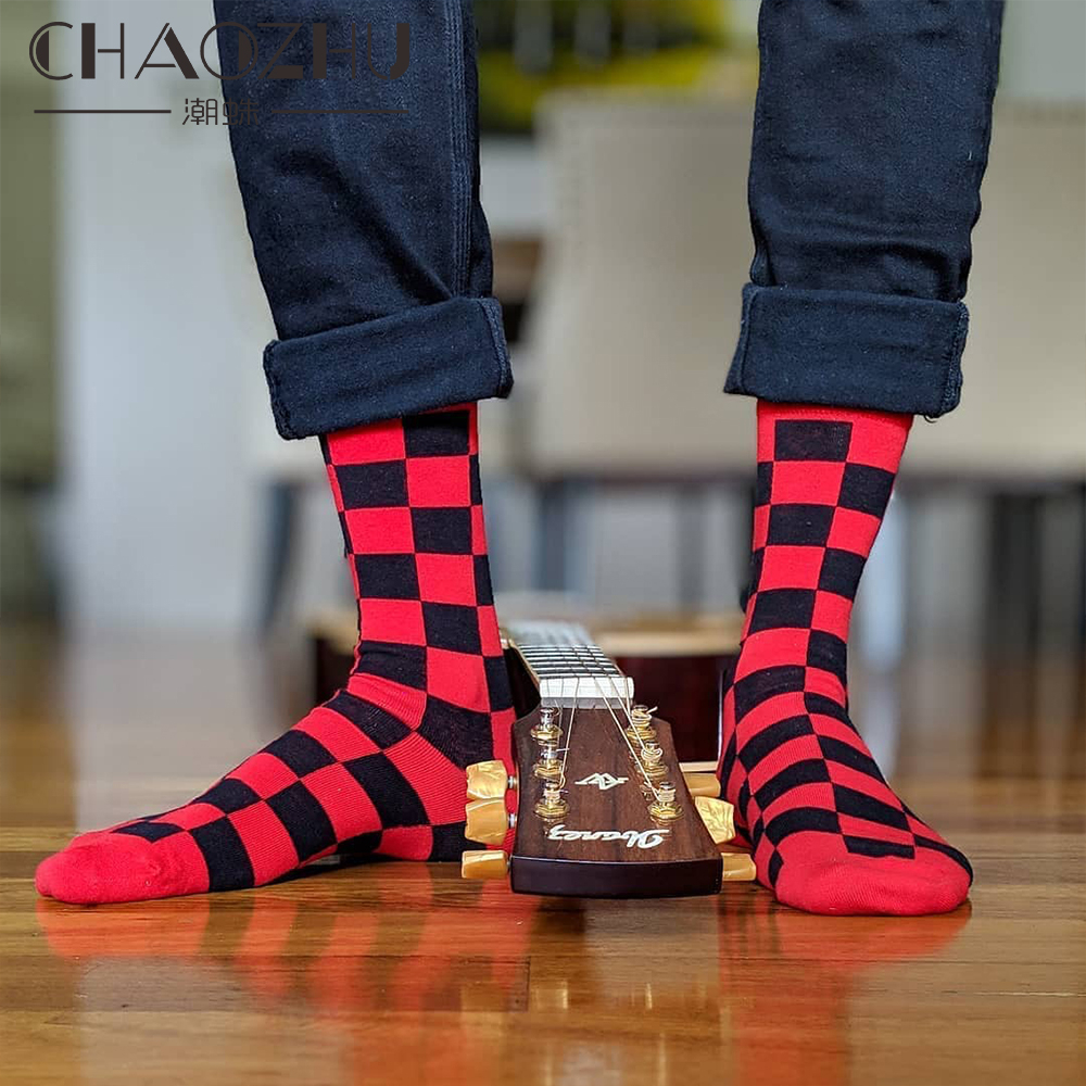 CHAOZHU 2020 New Men Socks Cotton Casual Personality Design Hip Hop Streetwear Harajuku Happy Socks Gifts For Man Brand Quality