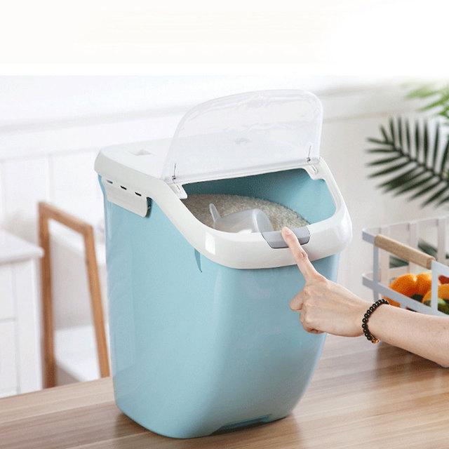 Kitchen Moisture-Proof Large Capacity Grain Flip Cover Storage Box
