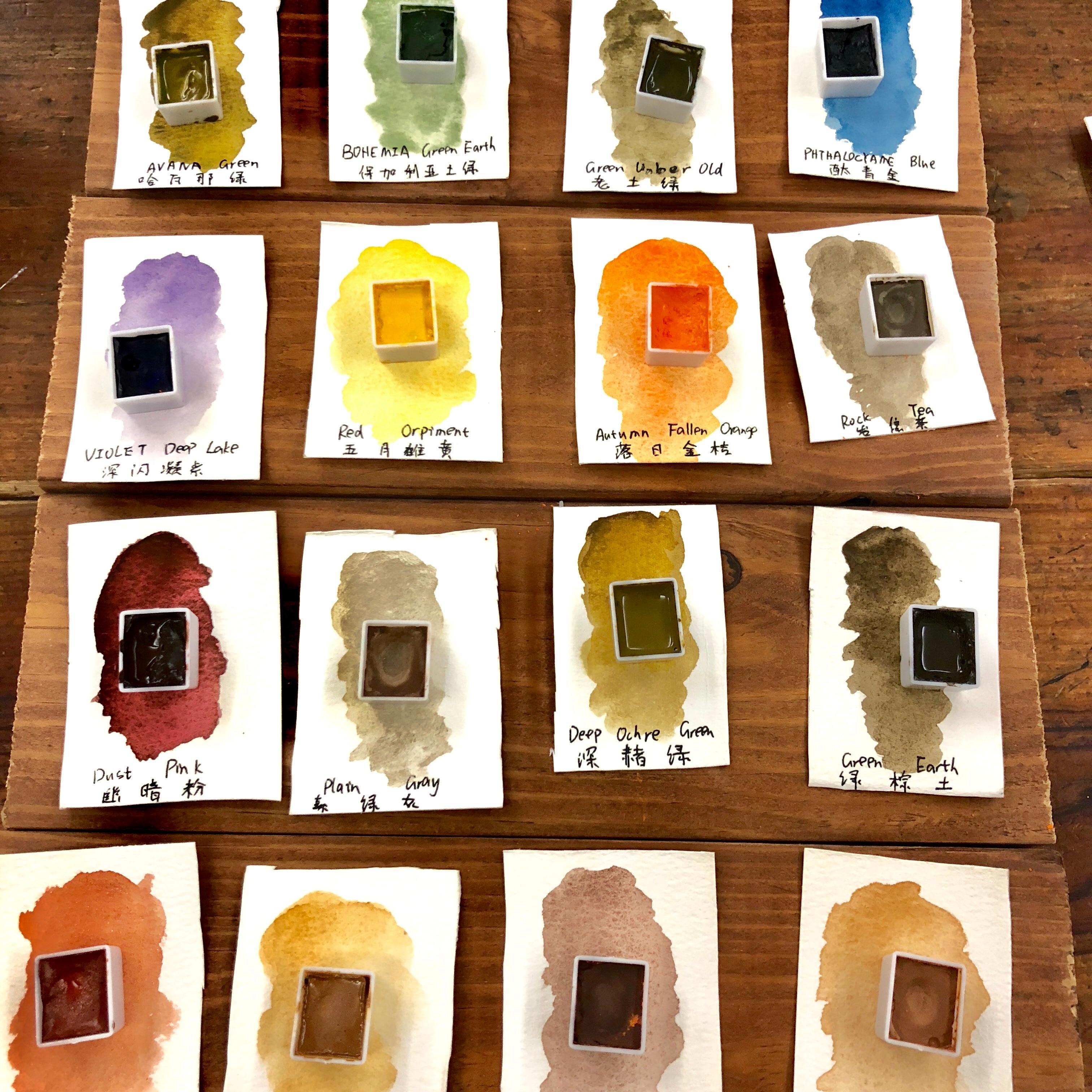 Ручная работа, минеральная однотонная краска для воды, импортный цветной порошок для изготовления ретро-краски Acuarelas