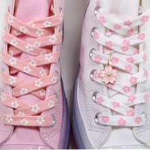 21 style Cherry Blossom Pink AF1 Shoelace High-Cut Low-Cut Original Female Flower Lace Decorative Buckle Female Shoelace