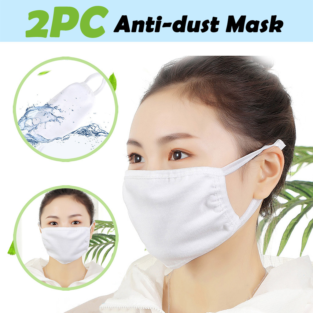 2PC Anti-dust Reusable Cotton Mouth Face Masks Mouth Cover For Man And Woman  Filter Against Droplet Non-Medical @6