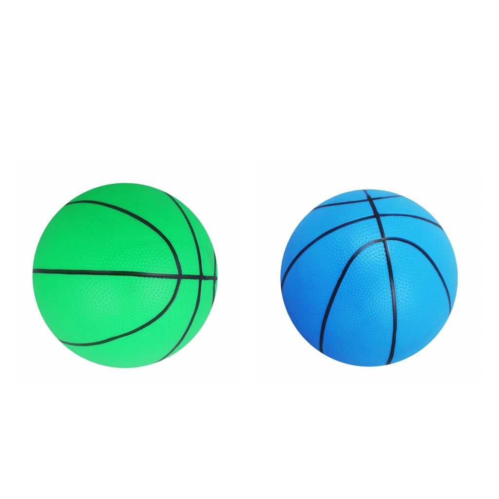 Pack Of 2pcs Lightweight PVC 16cm Mini Basketball Bouncy Ball Kids Boys Girls Toy For Kids Sports & Play
