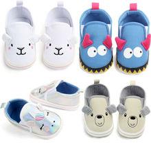 Newborn Infant Baby Boys Canvas Shoes Girls Casual Sole Crib
