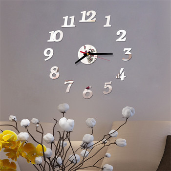 Clocks Home Decor 3d Diy Roman Numbers Acrylic Mirror Wall Sticker Clock Home Decor Mural Decals Fashion 3d Big Size Wall Clocks 1