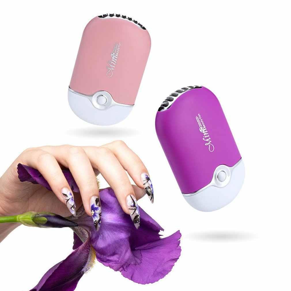 Injerto de pestañas postizas, Mini ventilador de mano para aire acondicionado, pequeño ventilador de carga Usb, dispositivo de ventilación sin hojas