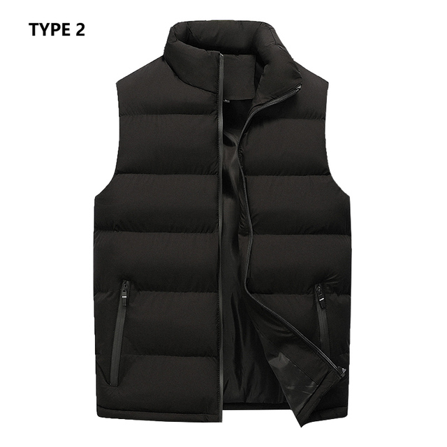 Mens Vest Jacket Men New Autumn Warm Sleeveless Jackets Male Winter Casual Waistcoat Vest Plus Size Veste Homme Brand Clothing 4