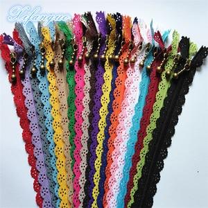 5/10pcs 20cm 8 inch DIY 3# nylon coil flower zipper for DIY sewing tailor handicraft bed bag (20 colors) #