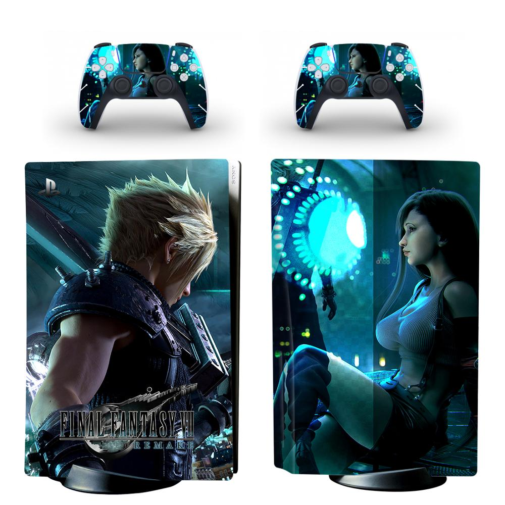 Final Fantasy PS5 Standard Disc Edition Skin Sticker Decal Cover for PlayStation 5 Console & Controller PS5 Skin Sticker Vinyl 1