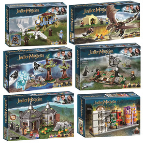 Harri Movie Magic School Carriage Voldemort Clock Tower Building Block Toys Compatible 75945 75946 75957 75958 75965(China)