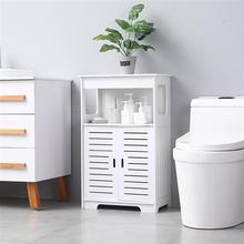 Bathroom Storage RackDoor Double Compartment 80 High Living Room Home Storage Waterproof Cabinet PVC