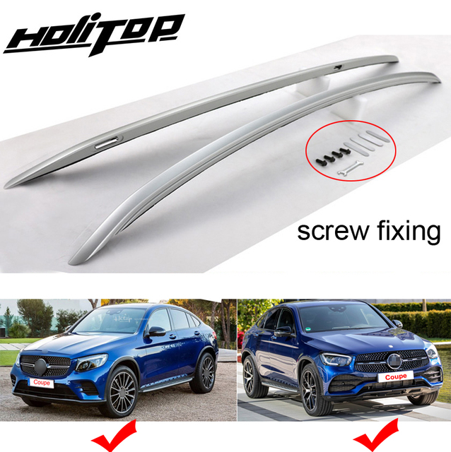 New arrival GLC Coupe roof rack/cross luggage bar/roof rail,thicken aluminum alloy,original style,fix by screws instead of glue
