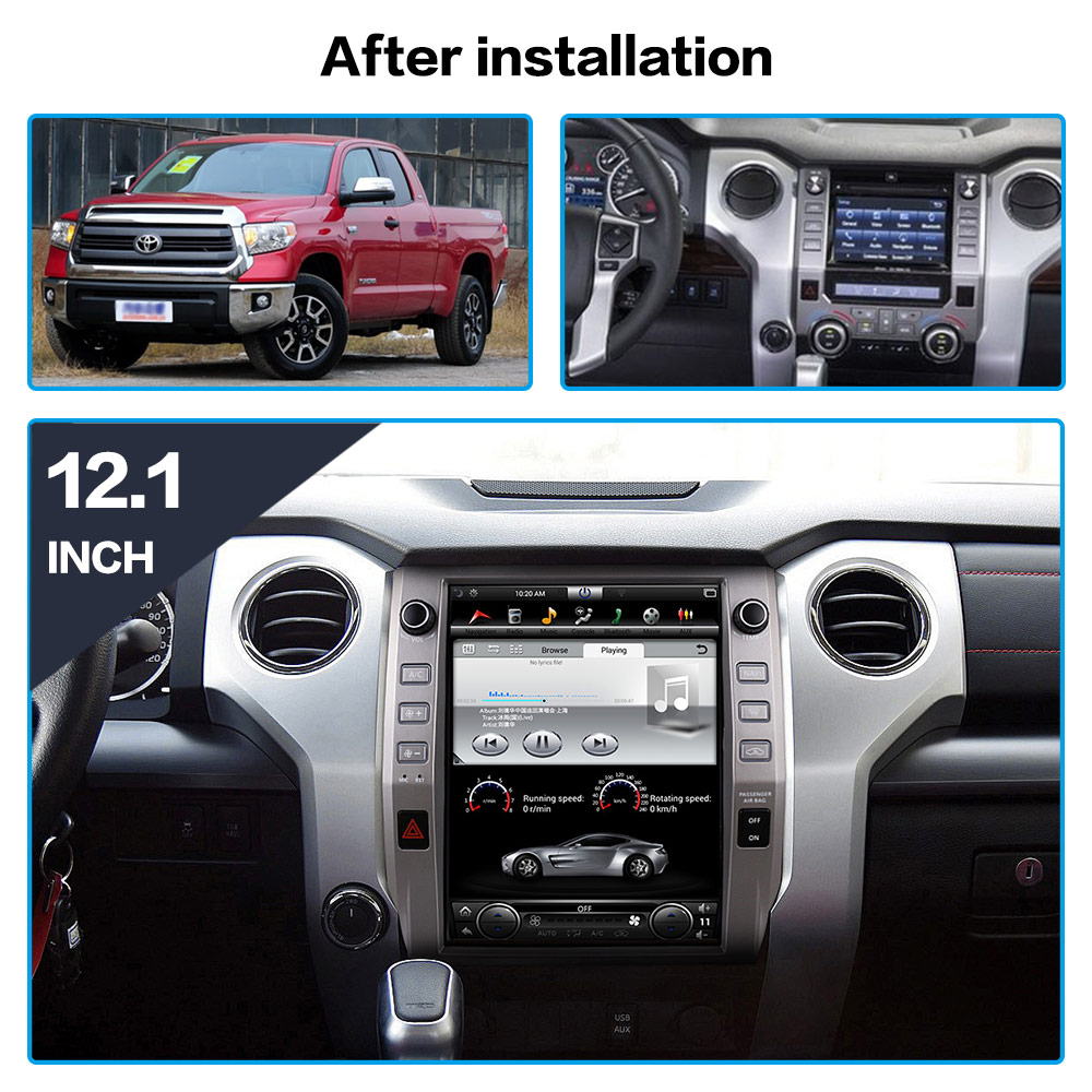 Android 8.1 Tesla style Car DVD Player GPS navigation for Toyota Tundra Sequoia 2014 2018 Car radio player Auto stereo head unit|Car Multimedia Player| |  - title=