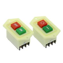 1Pcs LC3-5 LC3-10 Drill press interruttore AC 220/380V 10A I/O On/Off Start arresto di Auto-Bloccaggio Push Button Switch(China)