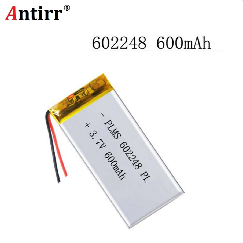 3.7V 600mAh 602248 Lithium Polymer Li-Po Rechargeable Li Ion Battery For Mp3 MP4 MP5 GPS PSP Vedio Game Toys
