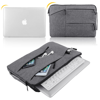 Bolsa de ordenador portátil para Xiaomi aire Dell HP para Macbook Air Pro Retina, 11 12 13 14 15 DE 15,6 pulgadas del ordenador portátil caso manga de funda de tableta PC cubierta
