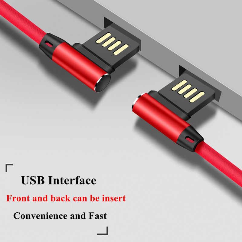 ONEVAN Doppio Gomito 90 Gradi Cavo USB per il iPhone X 6 6s 7 Plus 8 5 5S SE veloce di Ricarica Cavo Dati 2.4A Caricatore Del Telefono Cavo di 1M