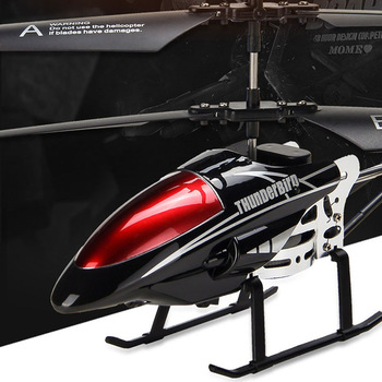 RC Helicopter 3.5 CH Radio Control Helicopter with LED Light Quadcopter Children Christmas Gift Shatterproof Flying Toys 1