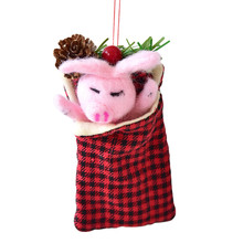 Mini Christmas Candy Bag Xmas Gift Pig Shape Bags H