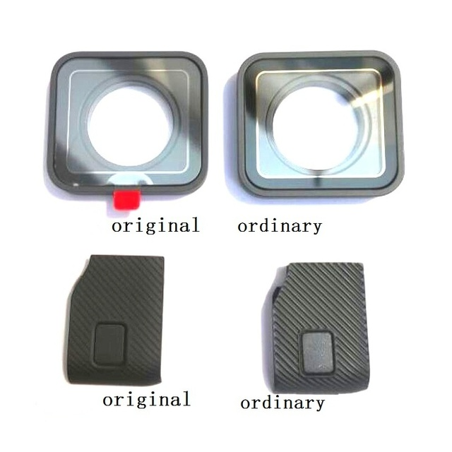 Original Accessories For GoPro Hero 7 6 5 4 Black Sports Camera Front Door/Faceplate/UV Filter Glass Lens/USB Cap Battery Cover