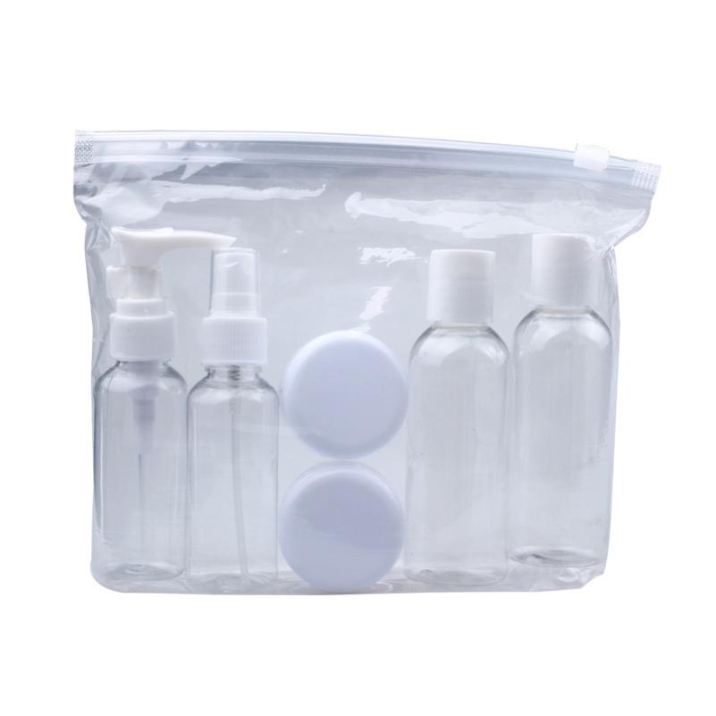 Professional New Portable Transparent Travel Cosmetic Bottle Points Bottling Six Sets Plastic Material 100% New And High Quality