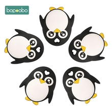 Bopoobo 1pc Baby Teether Bpa Free Silicone Penguin Food Grade Chewable Nursing T