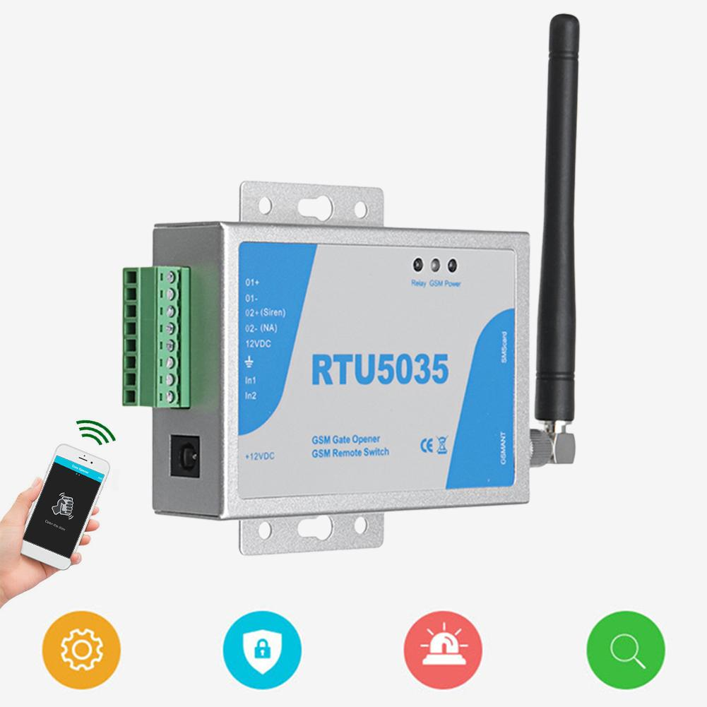 RTU5024 RTU5035 2G GSM Gate Opener Relay Switch Wireless Remote Control Door Access Door Opener Free Call for Parking Systems