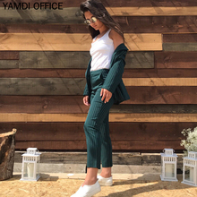 YAMDI Women Pant Suits 2019 Two Piece Sets Bussiness Office
