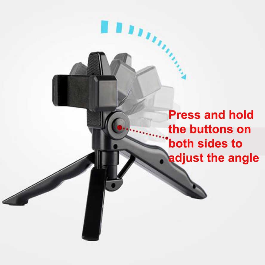 Soporte Universal para cámara de teléfono inteligente estabilizador de vídeo portátil Vertical y horizontal cámara de escritorio mini difusión en directo al aire libre