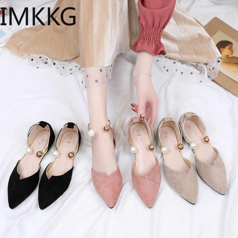 Womens Flat Shoes Cover Heel Shallow Women Splice Color Flats Fashion Pointed Toe Ballerina Ballet Flat Slip On Shoes Q00242