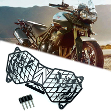 For Triumph Tiger 800 XC XCX XR XRX Explorer1200 1200 XC 2010-2017 Motorcycle Headlight Grille Guard Light Cover Protector for triumph tiger 800 xc xcx xr xrx 2015 2016 foldable extendable brake clutch levers motorcycle accessories folding