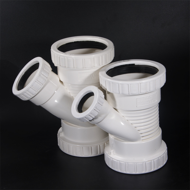 PVC Silencer Oblique T-junction Drainage Accessories Of Pipe Fittings German Plastic Factory Price Wholesale Direct Selling