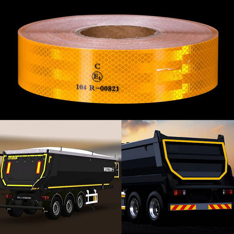 Reflective Safety Conspicuity Tape Automotive Motorcycle Campers Boats Trailer Reflectors Safety Caution Warning Tape Stickers