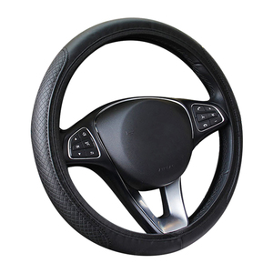 Image 5 - New Car Steering Wheel Cover Artificial Leather Elastic Skidproof Auto Steering  Wheel Embossing Leather Over Car styling
