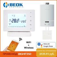 Beok-termostato inteligente inalámbrico RF Wifi para caldera de Gas, controlador de temperatura alimentado por USB, funciona con Alexa de Google Home