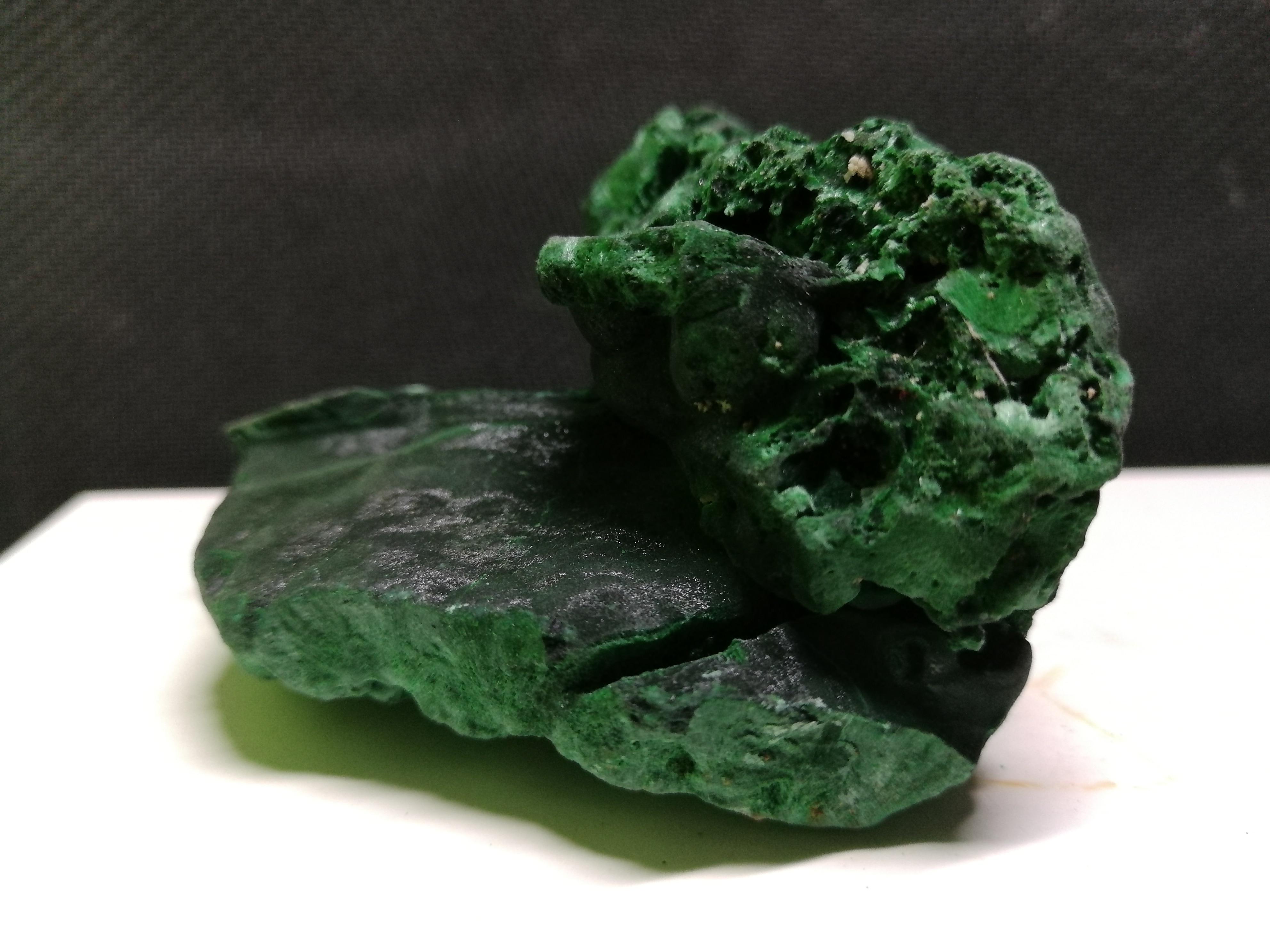 Natural da Amostra Cristal de Quartzo Mineral da Malaquita do Minério de 210.8 Cristal Gfine