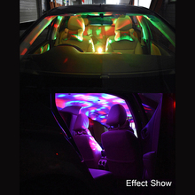 Usb-разъем для автомобиля мини светодиодный лампы со звуковым управлением светящиеся аксессуары лампы 3W 5V