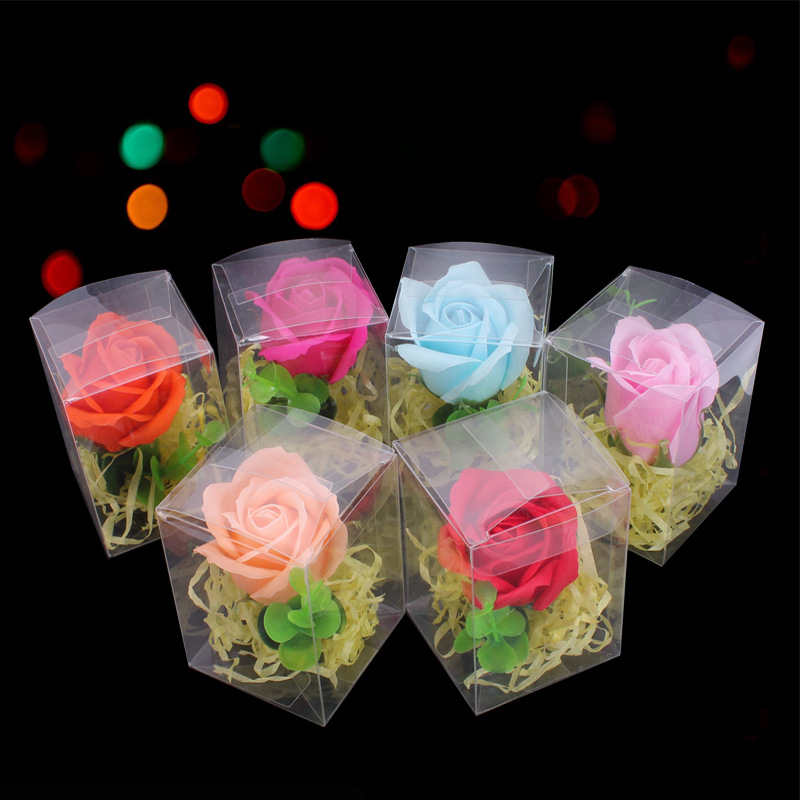 3Pcs Pretty Handmade Soap Rose Flower Gift Box Face Soap Skin Care Soap