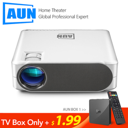 Aun Full Hd Projector AKEY6S, 1920X1080 P, Android 6.0 5G Wifi AC3 Video Beamer, led Mini Projector Voor 4K 3D Home Cinema