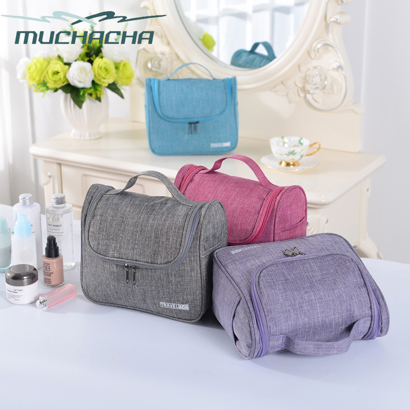 Dropship Travel Oxford Portable Makeup Bag Multifunctional Bathroom Accessory Hang Pouch Storage Lady Cosmetic Bag