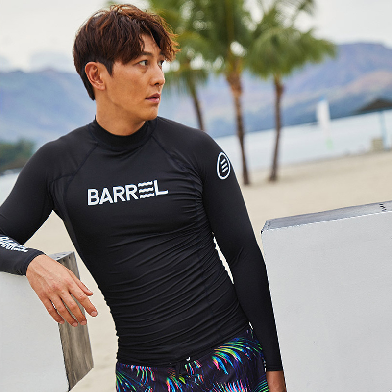 18 Autumn And Winter Korean-style Diving Suit Men's Split Type Long Sleeve Wetsuit Sun-resistant Bathing Suit Quick-Dry Jellyfis