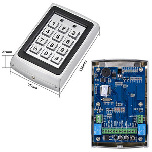 Image 4 - OBO Metal Rfid Keypad Access Control Reader Access Controller Board Support 1000 Users 125KHz Electric Digital Password Lock