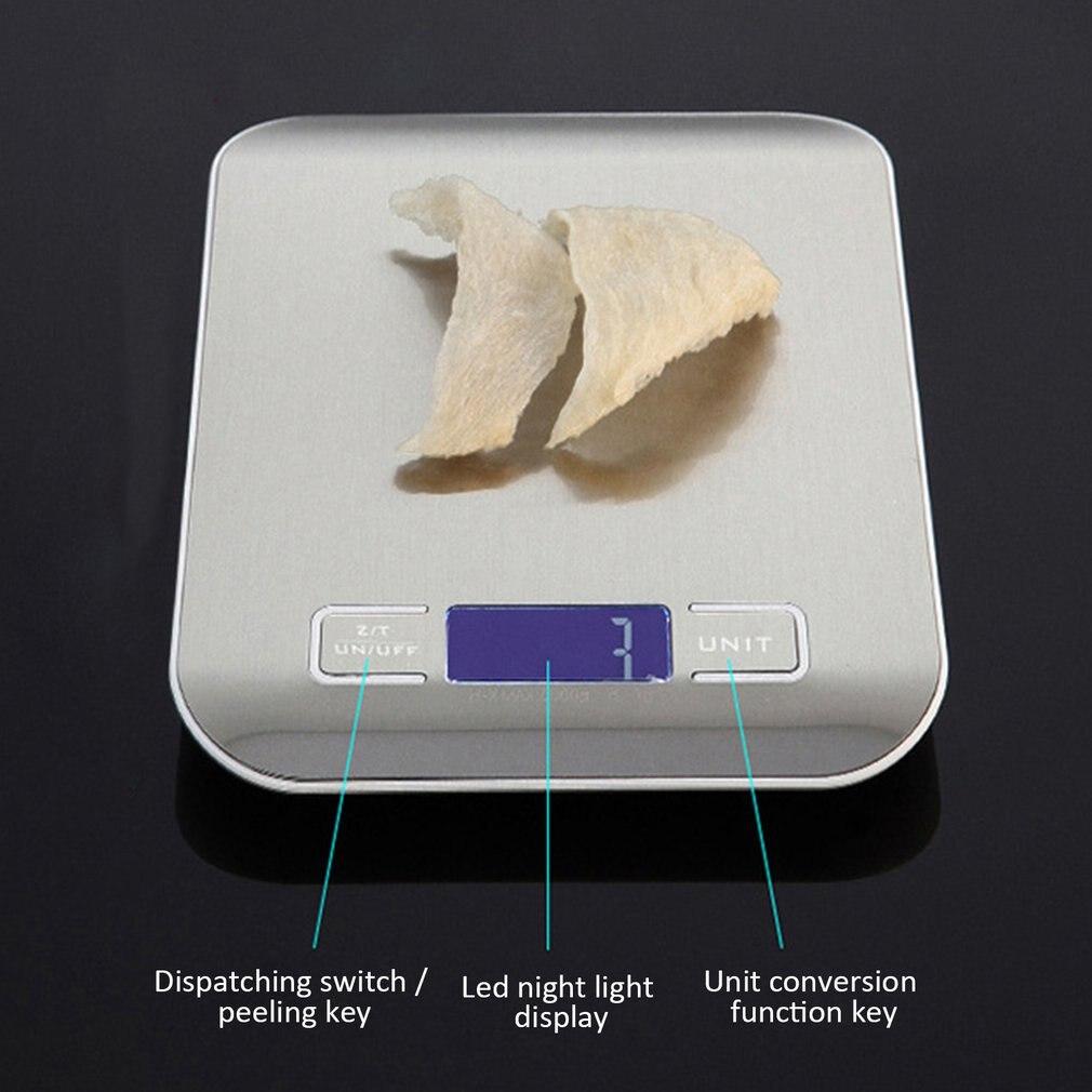 Бытовые кухонные весы, 5 кг/10 кг, 1 г, пищевая диета, Почтовые весы, измерительный инструмент, тонкие цифровые электронные весы с ЖК-дисплеем-5
