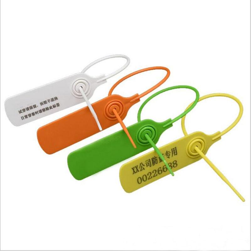 a logistica plastica descartavel dos lacos do cabo da etiqueta do selo de 100 pces que