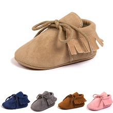 2019 PU Suede Leather Newborn Baby Moccasins Shoes Soft Soled Non-slip Crib Toddler Shoes