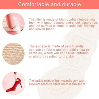 1 Pair Women Insoles High Heels Heel Sticker Heel Lining Sticker Non-slip Relief Protection Foot Sticker Pain Pad Care C4D7 image