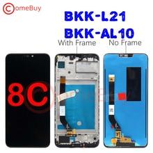 Comebuy LCDสำหรับHuawei Honor 8CจอแสดงผลLCDหน้าจอสัมผัสDigitizerประกอบกับกรอบสำหรับHonor 8CจอแสดงผลBKK AL10 BKK L21