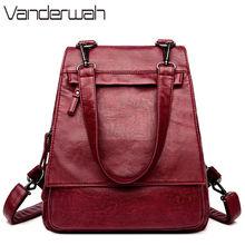 High Quality Leather Backpack Woman New Fashion Female Backpack Bags Large Capacity School Bag Mochila Feminina Sac A Dos Femme