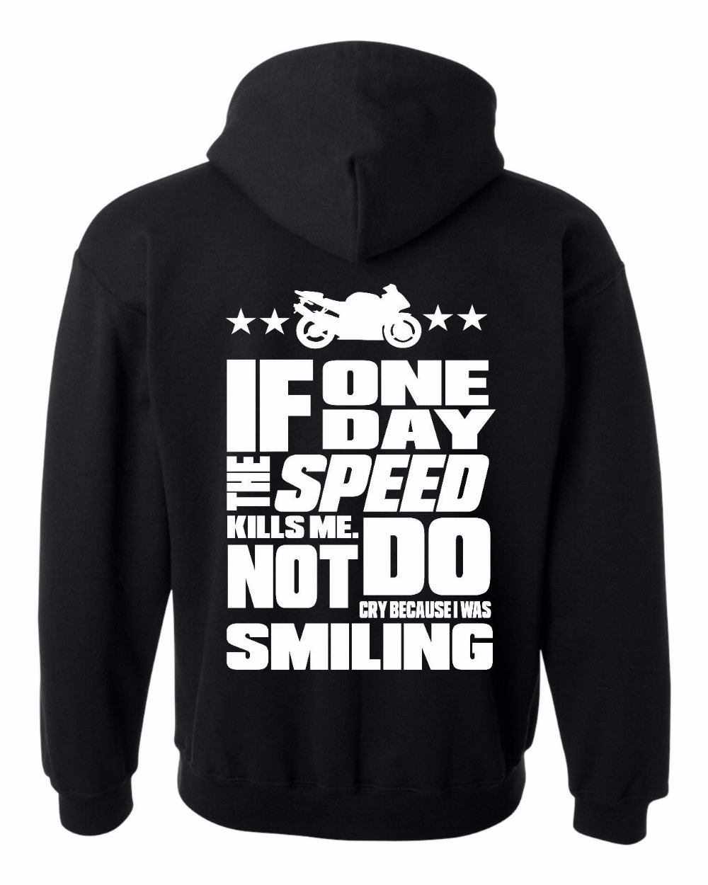 Winter Fashion Men's Hoodies If One Day The Speed Kills Me Bikers Biking Motorcycle Funny Hoodie Cotton Fleece Hoodie Sweatshirt